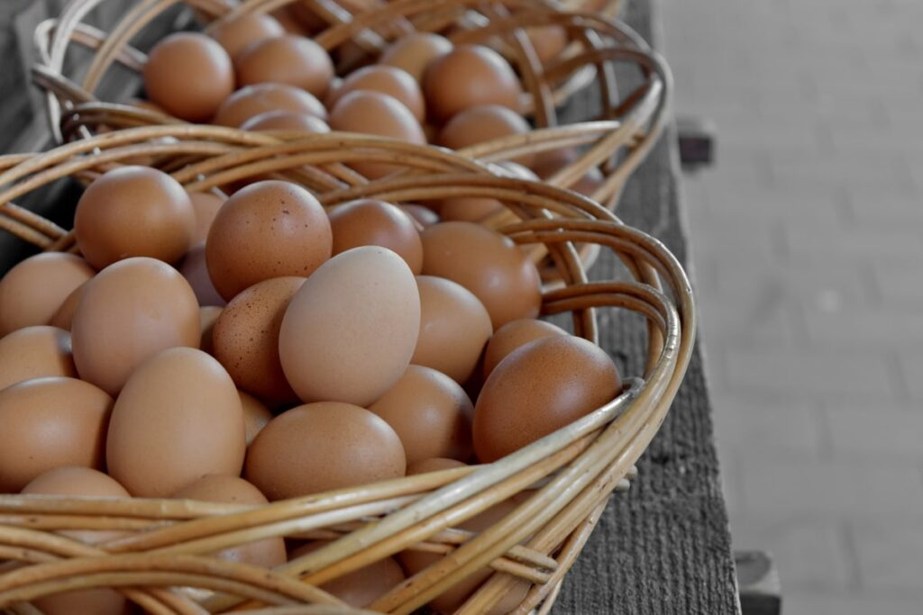2 paniers œufs